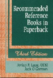 Cover of: Recommended reference books in paperback