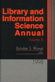 Cover of: Library and Information Science Annual