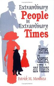 Cover of: Extraordinary people in extraordinary times