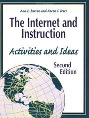 Cover of: The Internet and instruction | Ann E. Barron