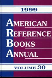 Cover of: American Reference Books Annual 1999