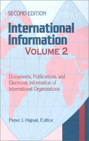 Cover of: International Information, Volume 2