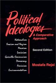 Cover of: Political ideologies