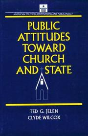 Cover of: Public attitudes toward church and state