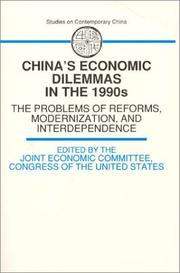 Cover of: China's economic dilemmas in the 1990s