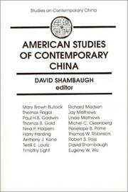 American Studies of Contemporary China (Studies on Contemporary China)