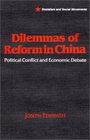 Cover of: Dilemmas of reform in China | Joseph Fewsmith