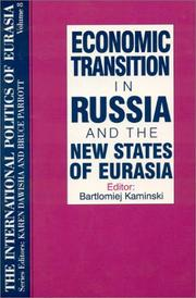 Cover of: Economic transition in Russia and the new states of Eurasia |