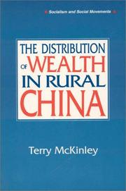 Cover of: The distribution of wealth in rural China