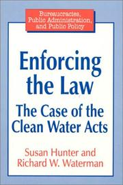 Cover of: Enforcing the law | Susan Hunter