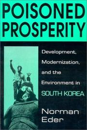 Cover of: Poisoned prosperity | Norman R. Eder