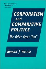 Cover of: Corporatism and Comparative Politics