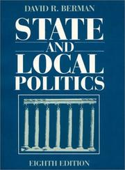 State and local politics by David R. Berman