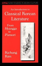 Cover of: An introduction to classical Korean literature