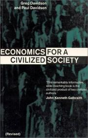 Cover of: Economics for a civilized society