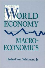 Cover of: World economy macroeconomics | Harland Wm Whitmore