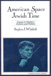 Cover of: American space, Jewish time