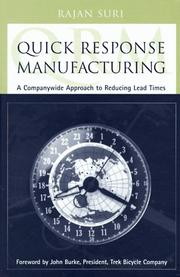 Cover of: Quick response manufacturing