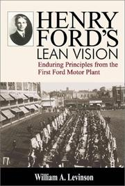 Cover of: Henry Ford's Lean Vision