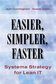 Cover of: Easier, Simpler, Faster | Jean Cunningham