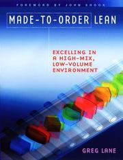 Cover of: Made-to-order Lean | Greg Lane