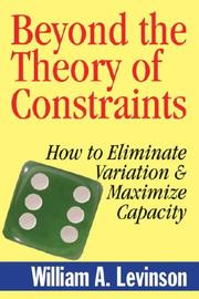 Cover of: Beyond the Theory of Contraints