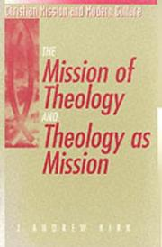 Cover of: The mission of theology and theology as mission