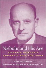 Cover of: Niebuhr and His Age