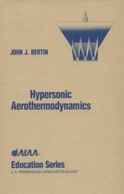 Cover of: Hypersonic aerothermodynamics
