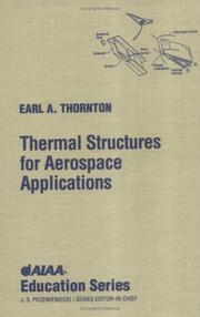 Cover of: Thermal structures for aerospace applications