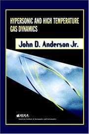Cover of: Hypersonic and high-temperature gas dynamics