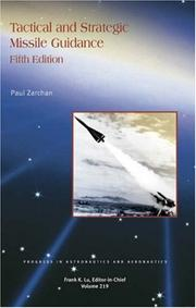 Cover of: Tactical and Strategic Missile Guidance (Progress in Astronautics and Aeronautics)
