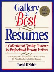 Cover of: Gallery of best resumes | Noble, David F.