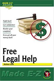 Cover of: Free Legal Help (Made E-Z Guides)