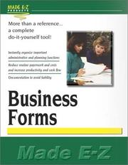 Cover of: Business Forms | Made E-Z Products