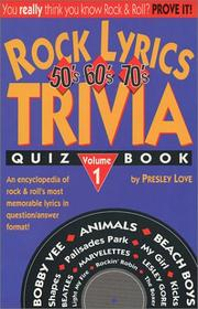 Cover of: Rock lyrics trivia