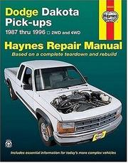 Cover of: Dodge Dakota pick-up automotive repair manual