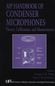 Cover of: AIP Handbook of Condenser Microphones |