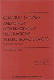 Cover of: Quantum 1/f noise and other low frequency fluctuations in electronic devices | Van der Ziel Symposium on Quantum 1/f oise and other Low Frequency Fluctuations in Electronic Devices (8th 1998 St. Louis, Mo.)