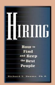 Cover of: Hiring | Richard, S Demms