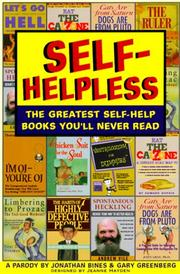 Cover of: Self-helpless | Jonathan Bines