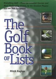 Cover of: The Golf Book of Lists