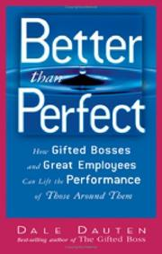 Cover of: Better than perfect