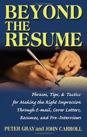 Cover of: Beyond the Resume | John Carroll