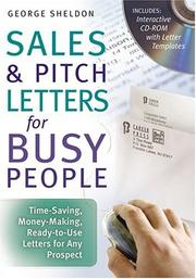 Cover of: Sales & Pitch Letters for Busy People | George Sheldon