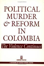 Cover of: Political murder and reform in Colombia | Juan E. MeМЃndez