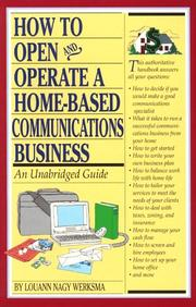 Cover of: How to open and operate a home-based communications business