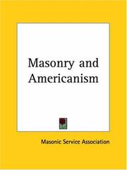 Cover of: Masonry and Americanism | Masonic Service Association