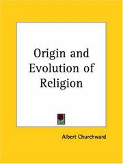 Cover of: The Origin and Evolution of Religion