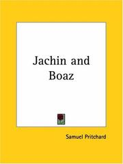 Cover of: Jachin and Boaz